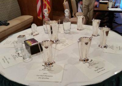 2017-2018 Trophies presented at Member-Member Dinner