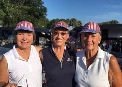 Red White and Blue Tournament- Jo Larson, Joan Plotz and Diane Carcich